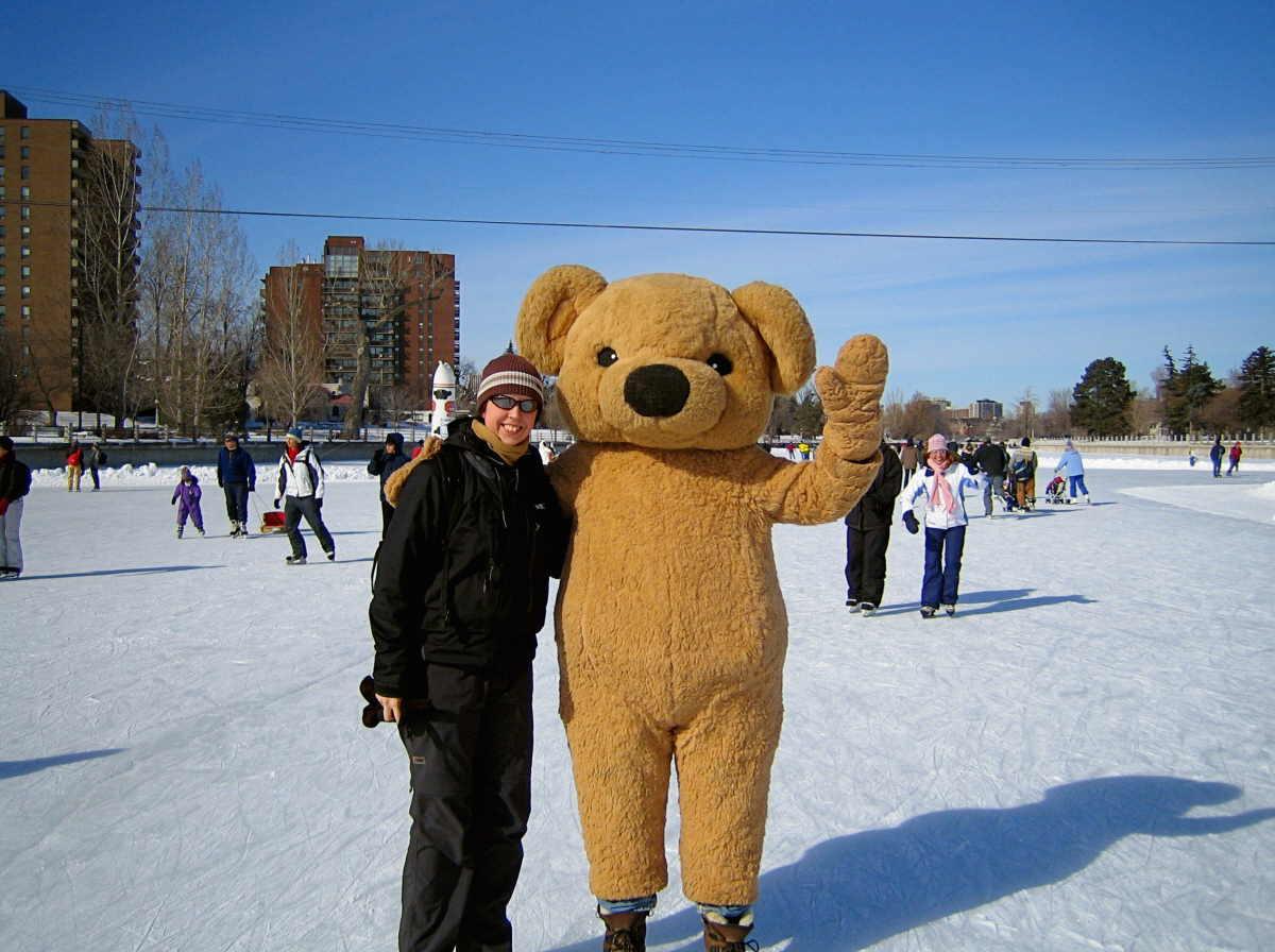 Kuva: Matkaluistelua Kanadan Ottawassa, Sari Särkijärvi