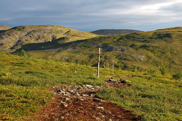 Pallas-Hetta -vaellusreitti. Lähde: Tunturi-Lappi.fi -kuvapankki
