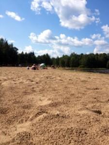 Hiekanpään uimaranta Pieksämäellä.