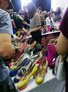Minna Parikan kengät kiinnostivat @ Design Market, Helsinki