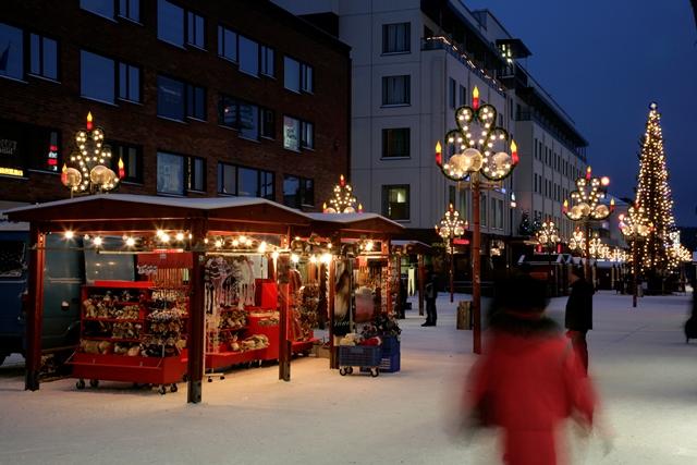 Joulumarkkinat, Rovaniemi. Lähde: VisitRovaniemi.fi -mediagalleria.