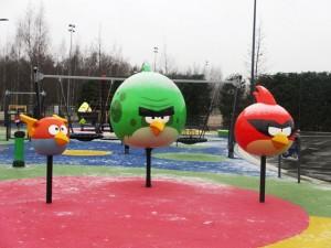 AngryBirds Space -leikkipuisto, Leppävaara. Kuva: KivaaTekemistä.fi
