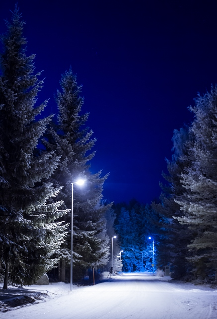 Talvista katumaisemaa, Jalasjärvi. Kuva: Niko Saarinen Photography