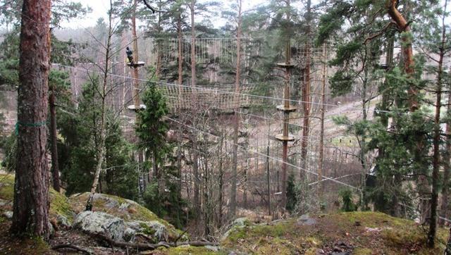 Seikkailupuisto Huipun radoilla on haasteita riittämiin. Kuva: KivaaTekemistä.fi