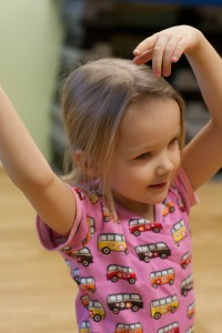 Keskittynyt tanssija.