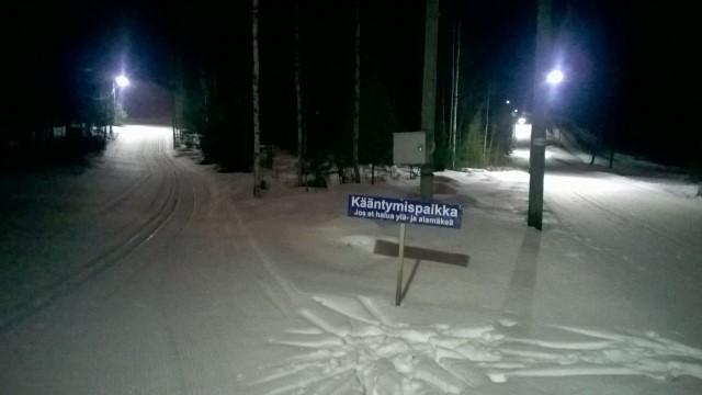Häkän valaistut ladut olivat hyvässä kunnossa. Kuva: KivaaTekemistä.fi