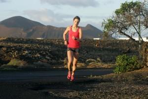 Emma Lanzaroten puolimaratonilla. Kuva: Emma Juga