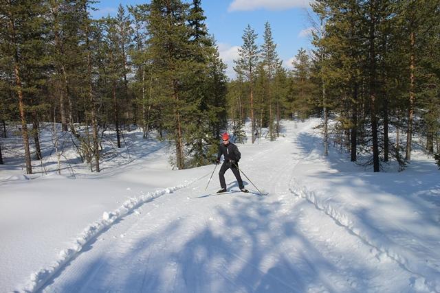 Luistelutyylin ankkakävely on kätevä tapa kivuta, jos suksi ei pidä kunnolla. Kuva: KivaaTekemistä.fi