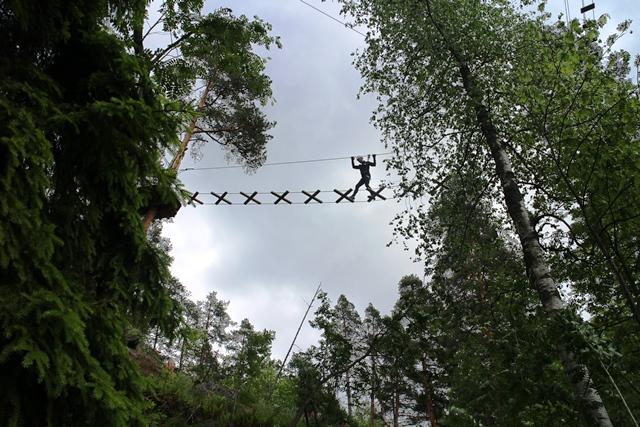 Korkeimmillaan Huipun radat kulkevat 18 metrissä. Kuva: KivaaTekemistä.fi