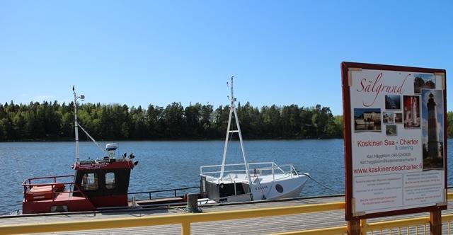 Saaristoretket ja merikuljetukset onnistuvat Kaskisten keskustan laiturista. Kuva: KivaaTekemistä.fi