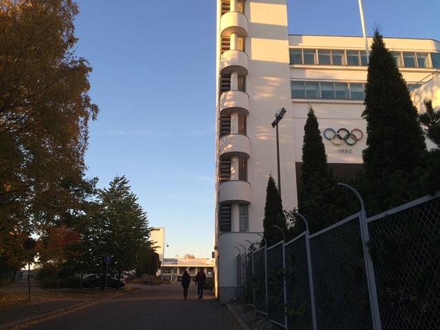 Helsinki City Trailin kisatoimisto sijaitsi Olympiastadionin Urheilumuseon vieressä. Kuva: KivaaTekemistä.fi