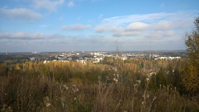 Pohjoisen maisema oli värikäs, taustalla Vantaan Myyrmäki ja Martinlaakso. Kuva: KivaaTekemistä.fi