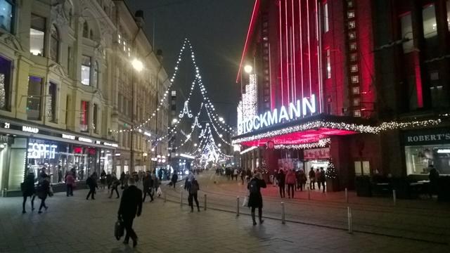 Aleksanterinkadun joulutunnelmaa, Helsinki. Kuva: KivaaTekemistä.fi